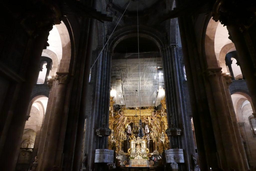het goud van El Cathedral in Santiago de Compostella